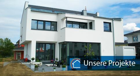 Neubau Fassadenarbeiten Traumhaus Langenfeld Leichlingen